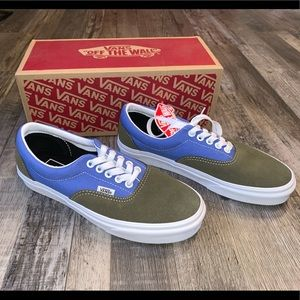 Vans vintage era blue grey shoes sneakers